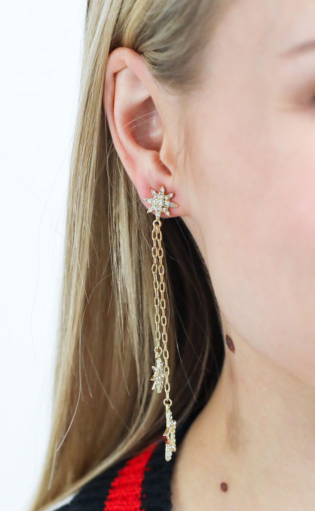 drops of shimmer earrings