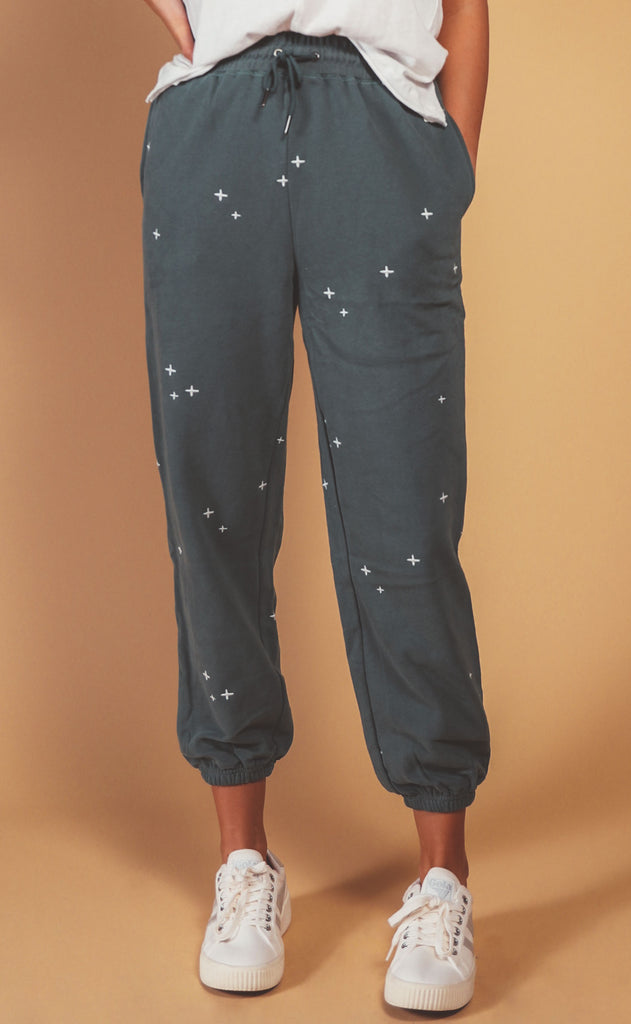 love to lounge embroidered sweatpants