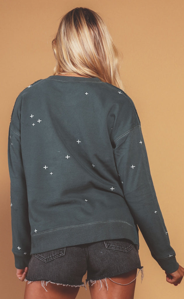 love to lounge embroidered sweatshirt