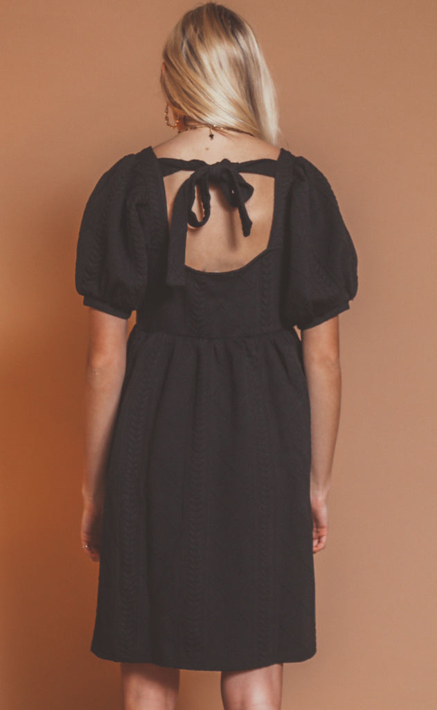 just for you babydoll dress - black