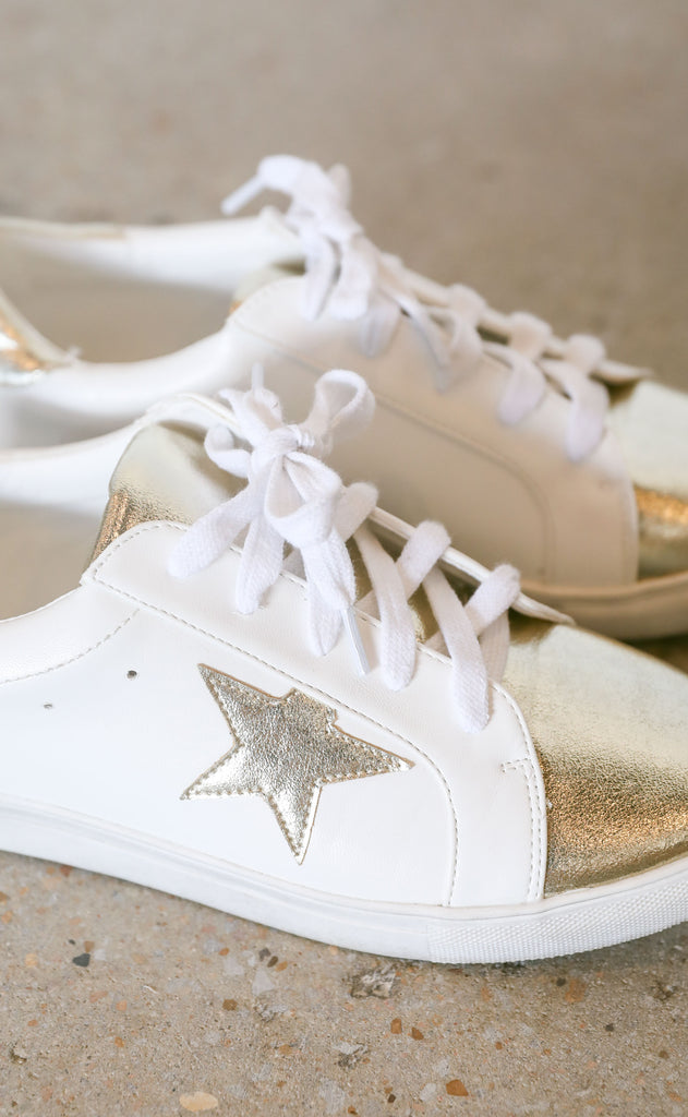 star to finish sneaker - gold