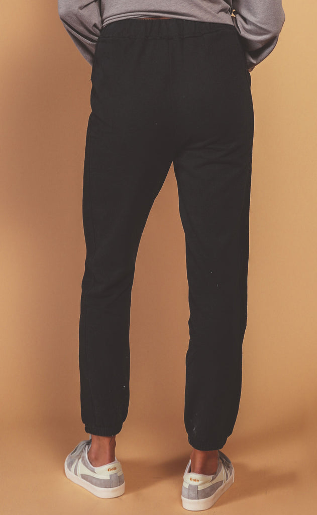 fireside fleece joggers - black