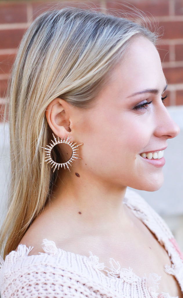 sunburst embellished earrings
