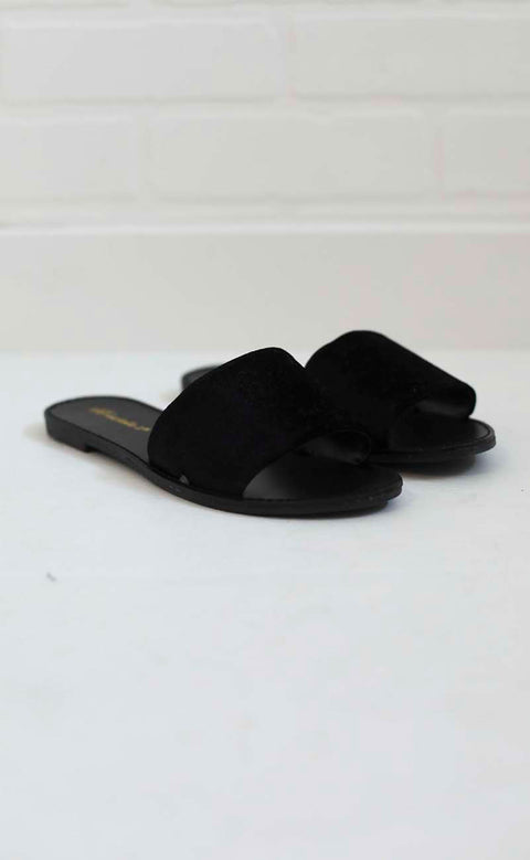 very velvet sandal - black