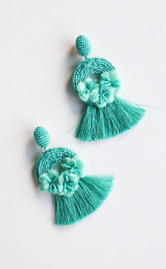 rita earrings - turquoise