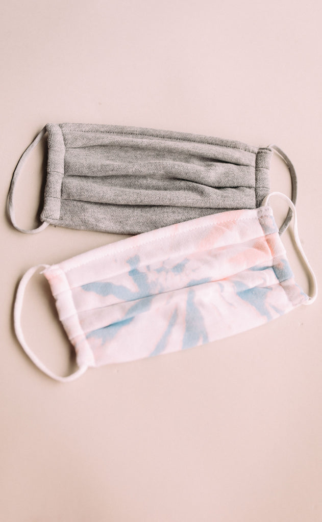 z supply: tie dye mask pack - multi/heather grey