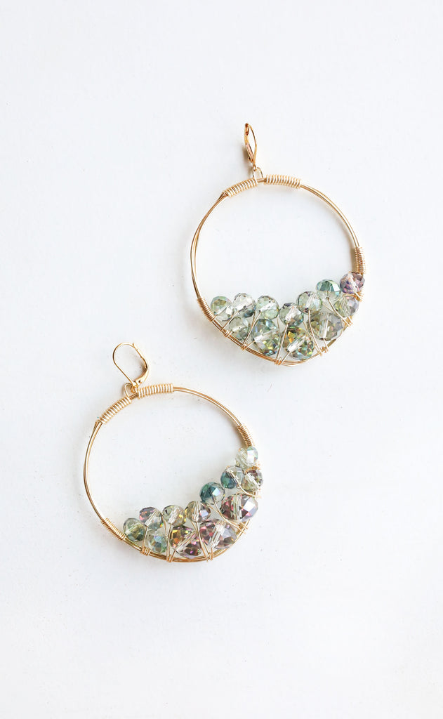 rory ashton: large cluster earring - lagoon