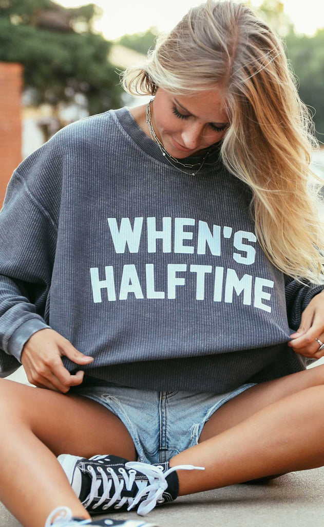 charlie southern: when's halftime corded sweatshirt