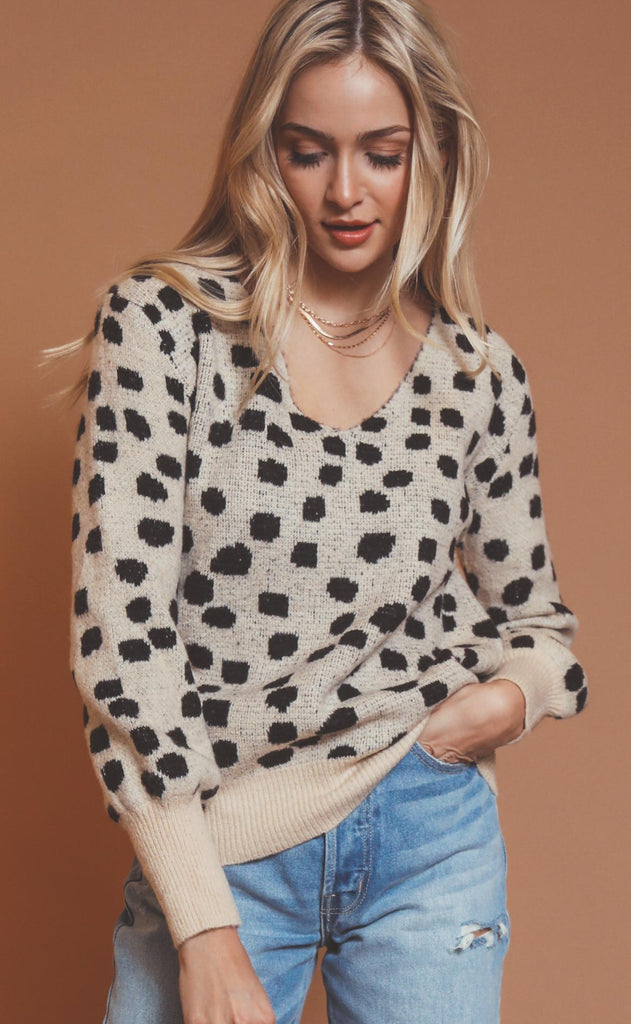 dalmatian knit sweater