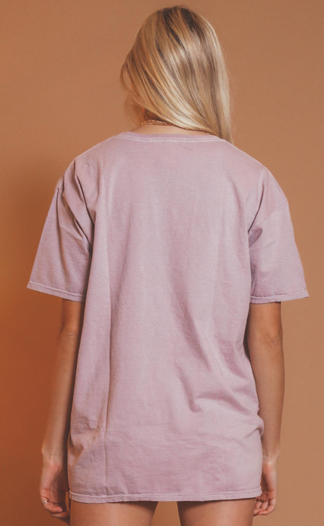project social t: asher oversized tee - frosted violet