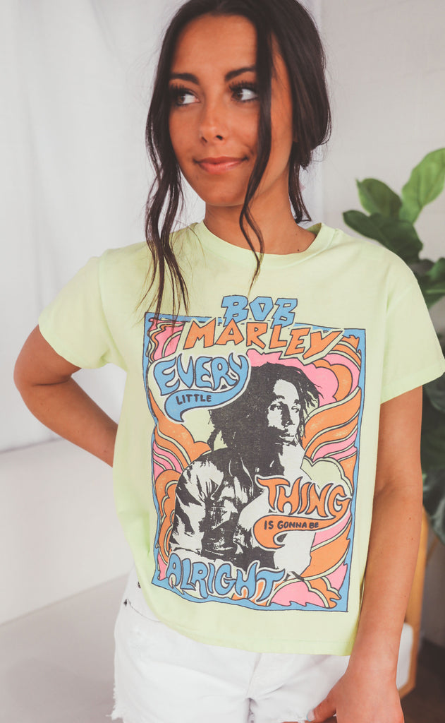daydreamer: bob marley don't worry girlfriend tee