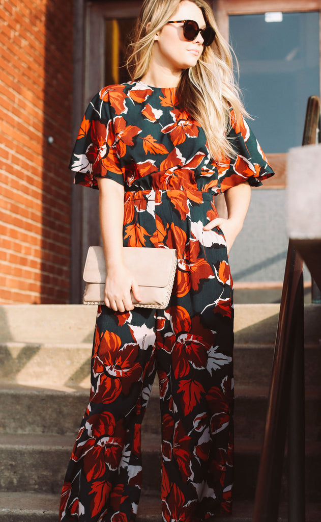 sweet thing floral jumpsuit