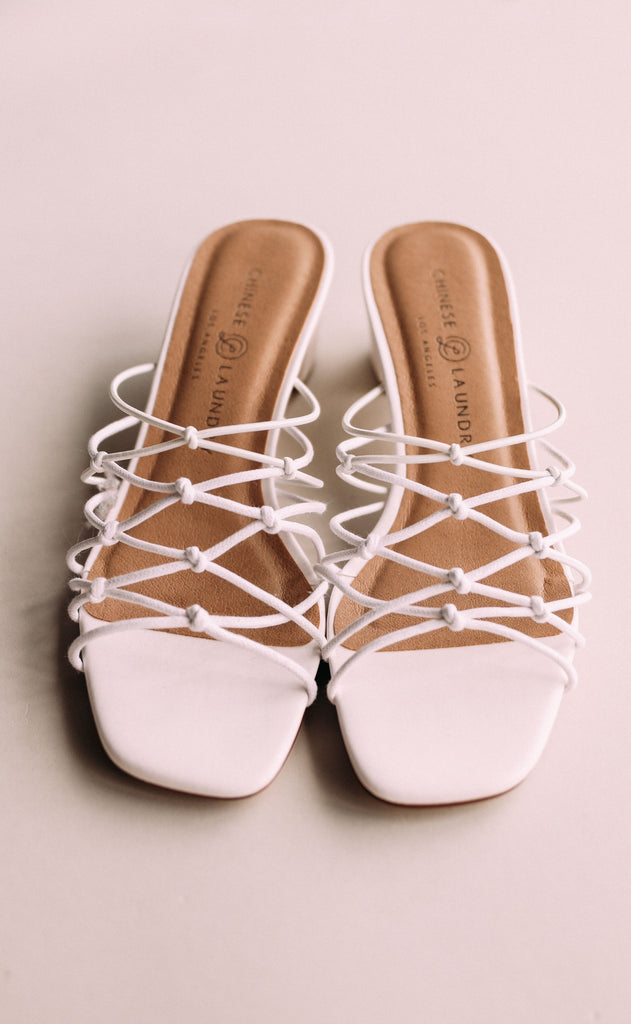 chinese laundry: lizza sandal - white