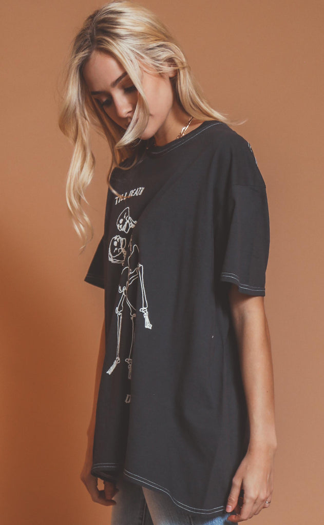 project social t: til death do us part oversized tee