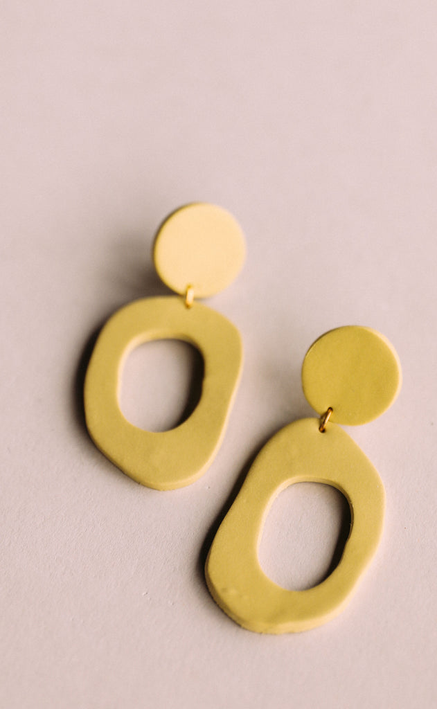 poppy dot: charlie earrings - chartreuse