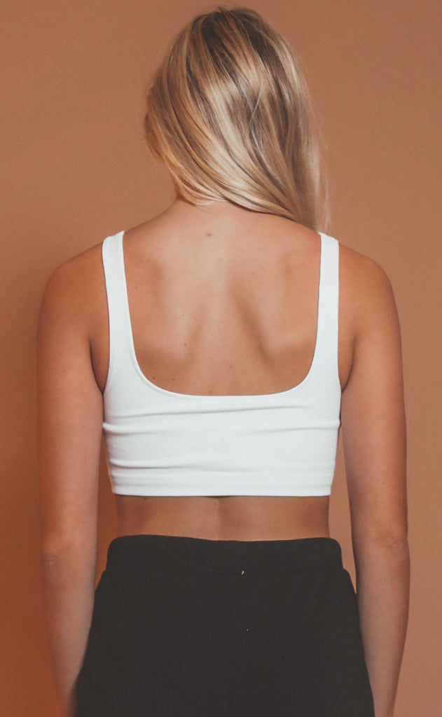 can't beat it seamless tank bra - white