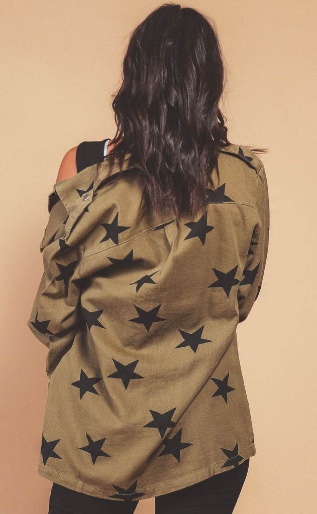 star power denim jacket