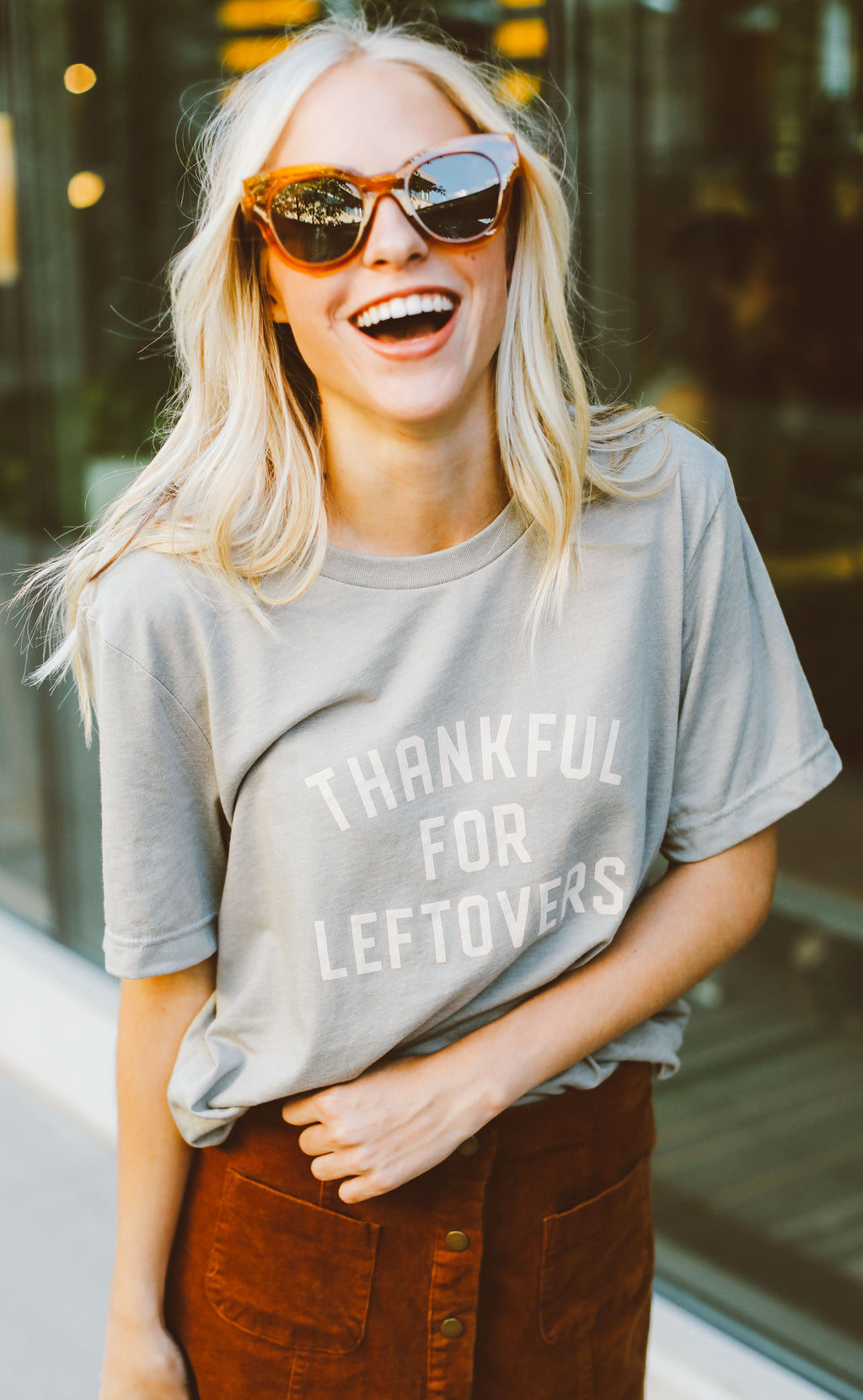 charlie southern: thankful for leftovers t shirt (pre-order)