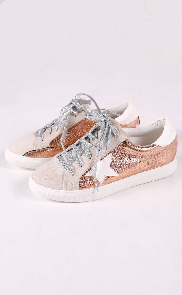 walk of fame sneaker - rose gold metallic