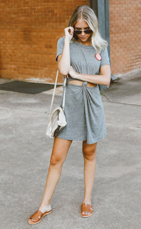 date night t shirt dress