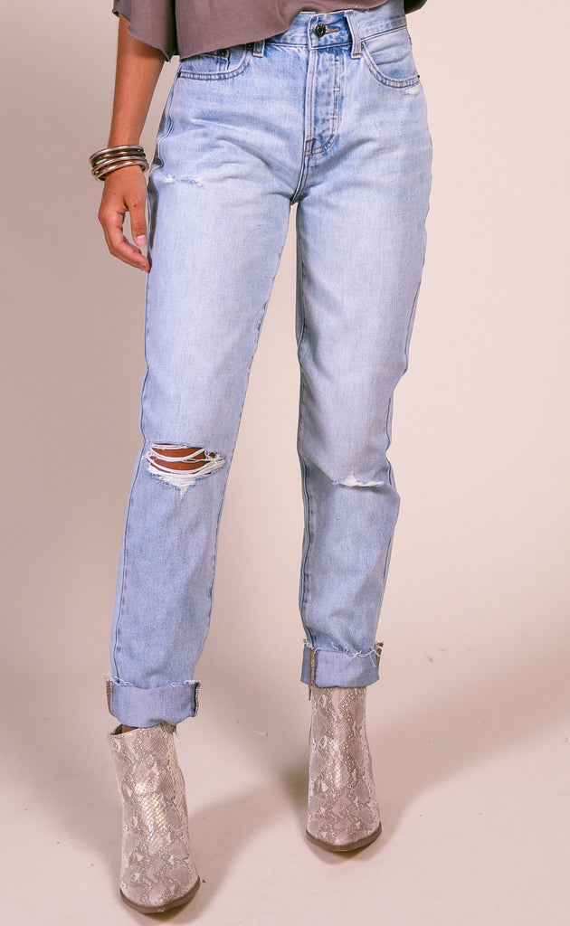 super flare high waisted jeans - white