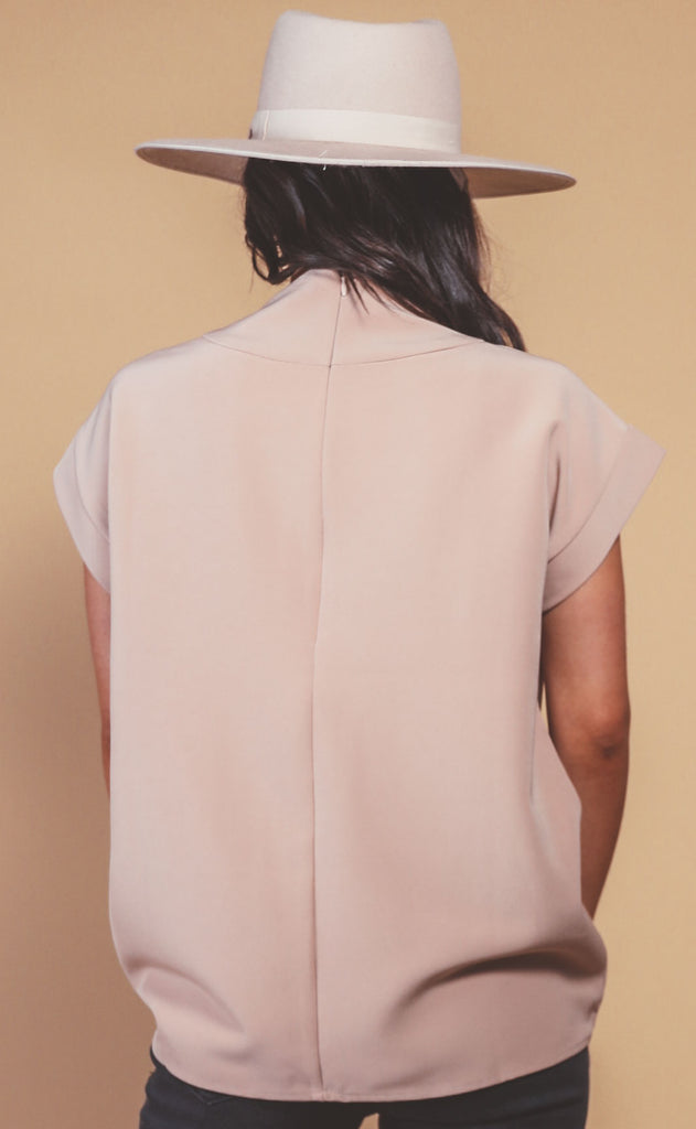 new york structured top - mocha