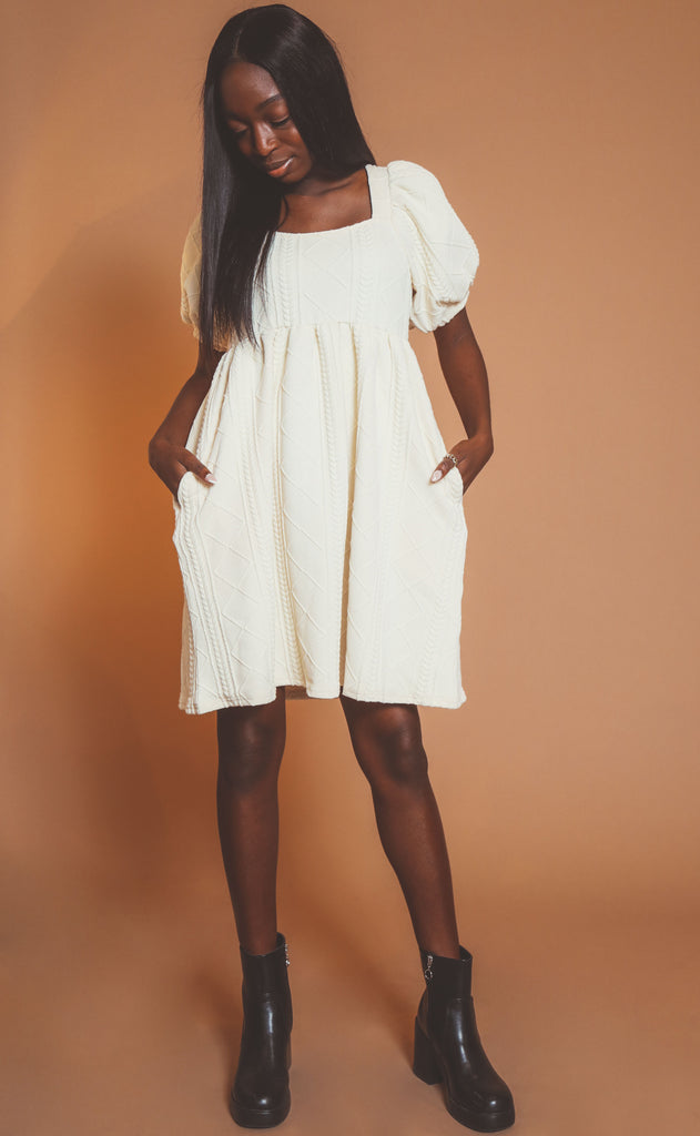 just for you babydoll dress - cream