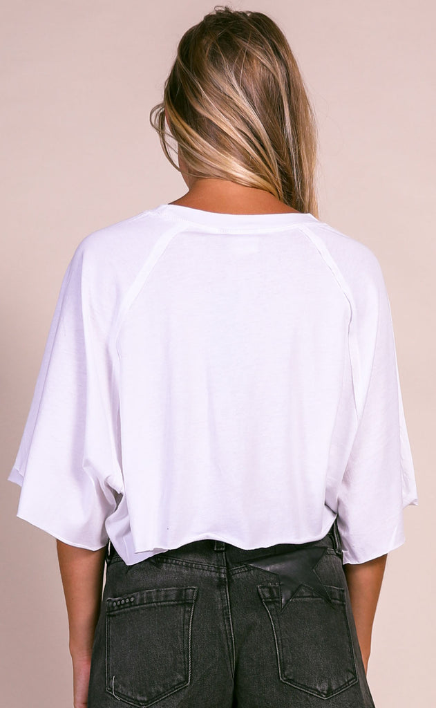 penny lane cropped tee - ivory