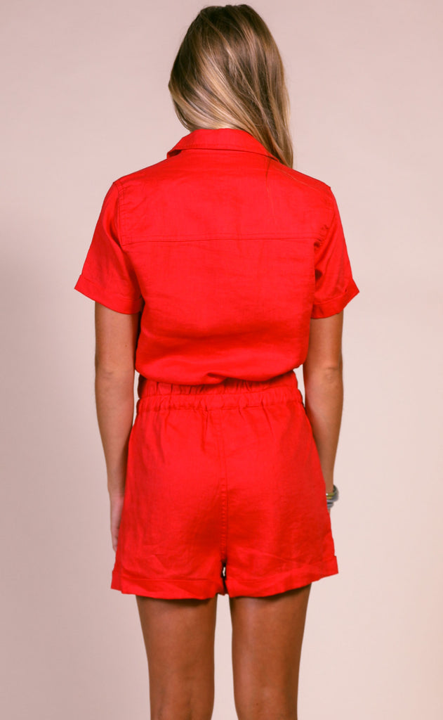 blank: red flag romper