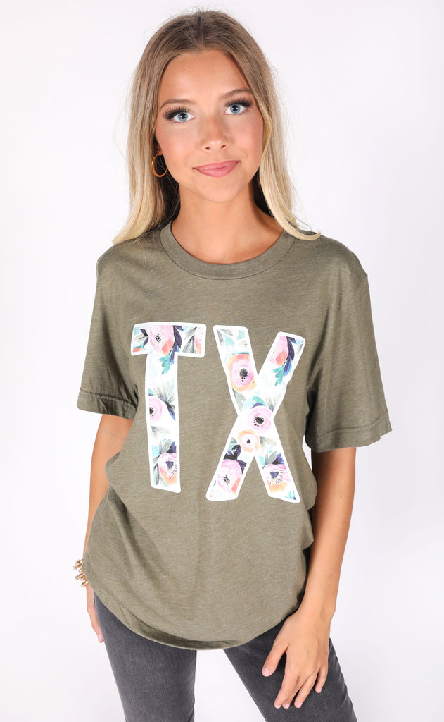 charlie southern: forever floral t shirt - texas