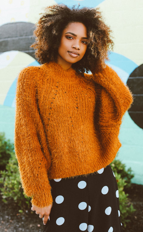 hazelnut knit sweater