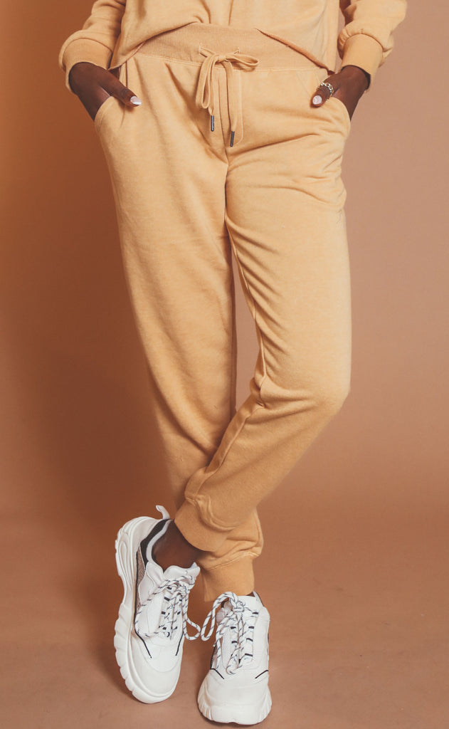 z supply: cypress loop terry jogger - dandelion
