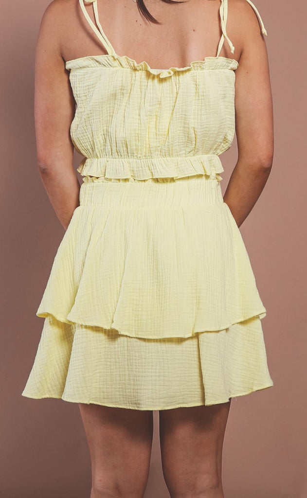 show me your mumu: aiden mini skirt - lemon