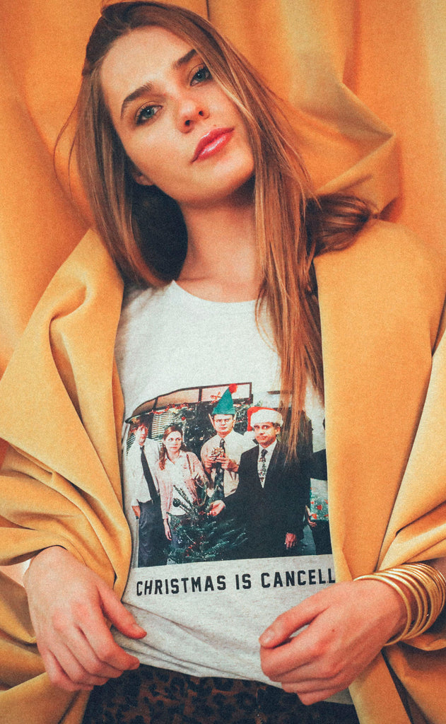 friday + saturday: christmas is cancelled t shirt