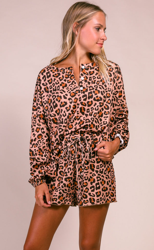 weekend wear two piece set - leopard