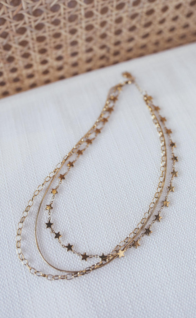 bracha: cosmos star layered necklace