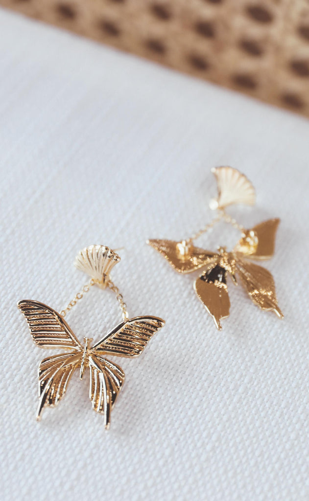 bracha: celeste butterfly earrings