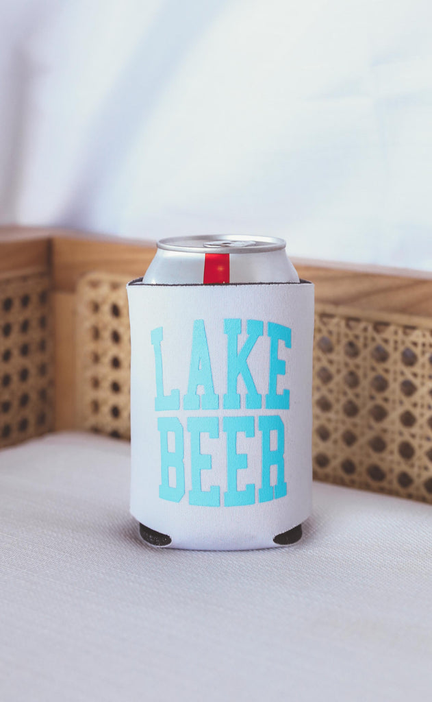 charlie southern: lake beer drink sleeve [set of 4]