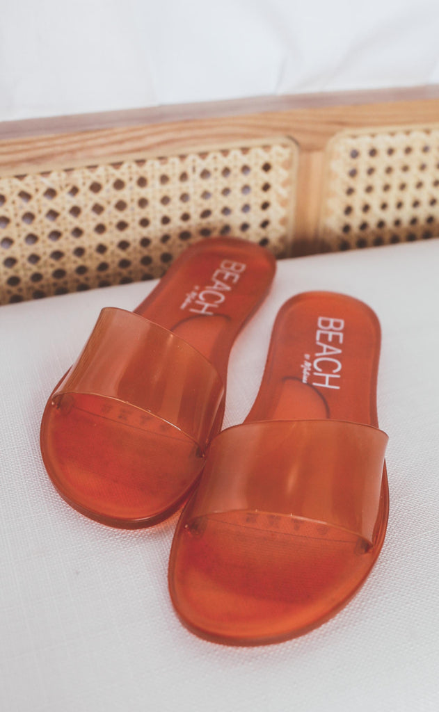 coconuts by matisse: sol sandal - amber jelly