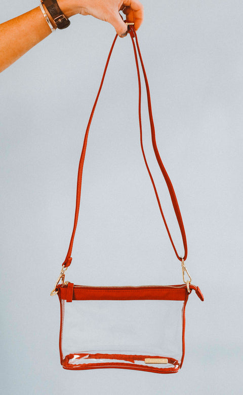 gameday small crossbody - red