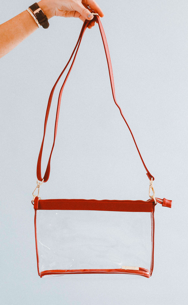 gameday large crossbody - red