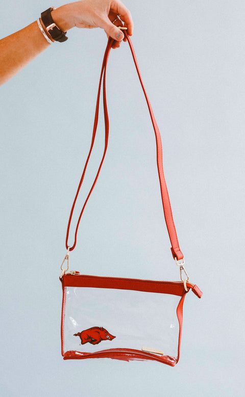 gameday small crossbody - red with razorback