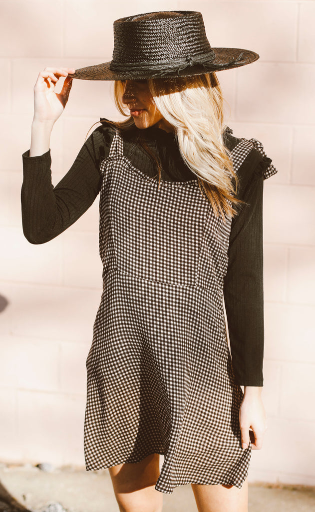 sweet lady gingham dress - black
