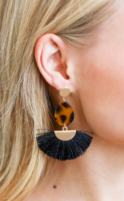 fanfare statement earrings - brown