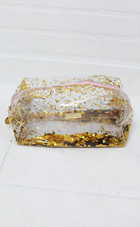 packed party: cosmetic bag - gold