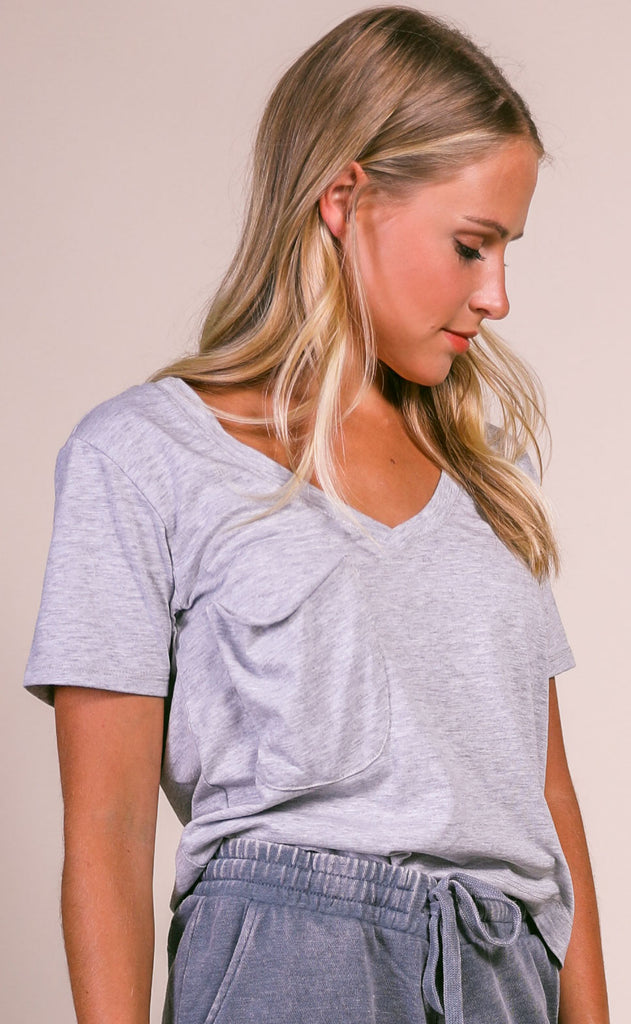 z supply: the classic skimmer tee - heather grey