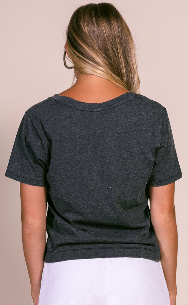 z supply: the classic skimmer tee - black
