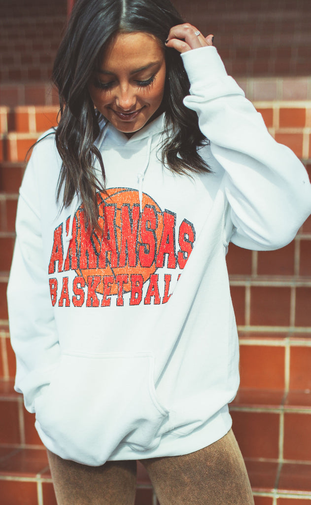 charlie southern: arkansas basketball hooded sweatshirt