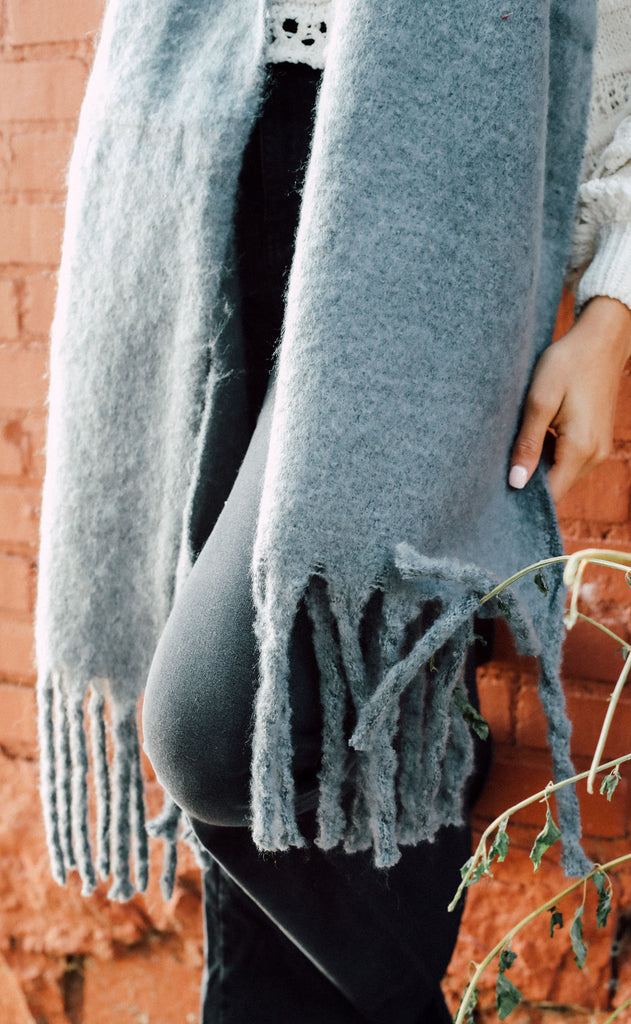 anchorage knit scarf - grey
