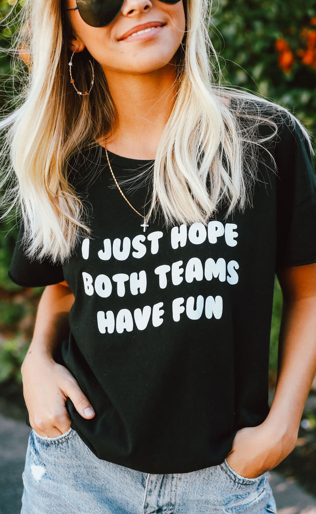 charlie southern: i just hope both teams have fun rocker t shirt